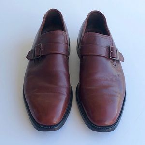 Barrie LTD booters Brown Monk Strap Mens Shoes